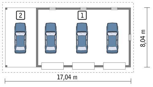 Rzut parteru POW. 121,5 m²