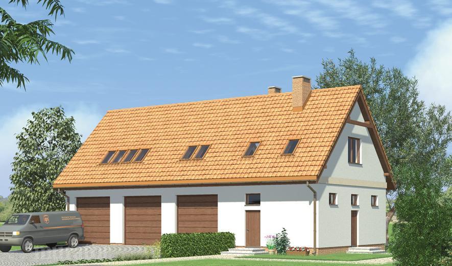 GM04 Budynek garażowo-magazynowy z poddaszem mieszkalnym