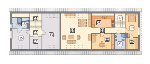 Rzut poddasza POW. 206,3 m²