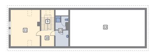 Rzut poddasza POW. 72,9 m²