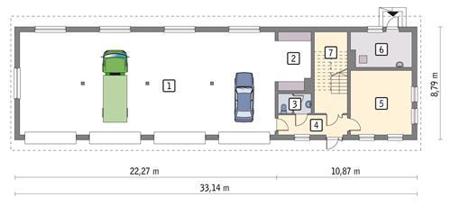 Rzut parteru POW. 232,0 m²