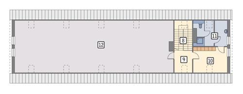 Rzut poddasza POW. 236,0 m²