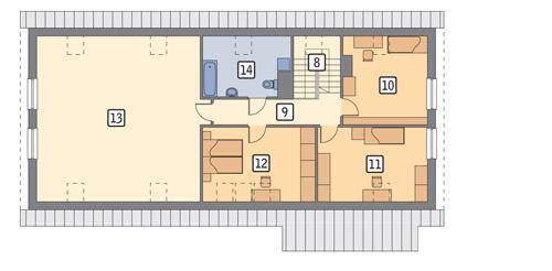 Rzut poddasza POW. 143,8 m²