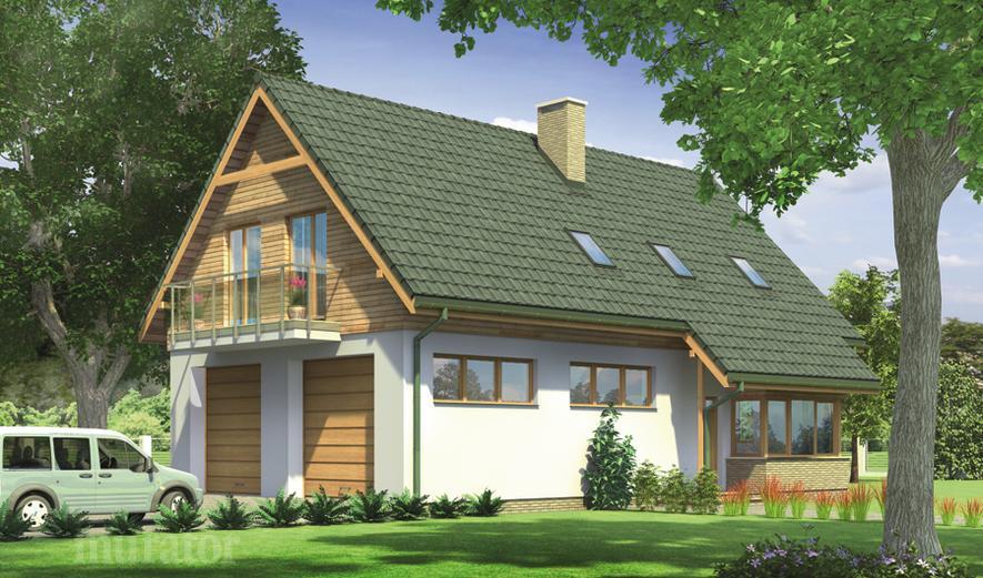 GM07a Budynek garażowo-magazynowy z poddaszem mieszkalnym