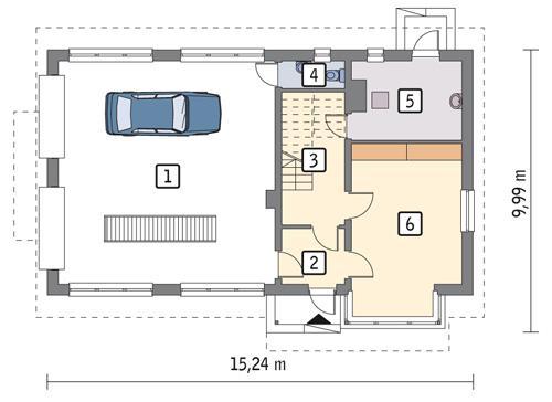 Rzut parteru POW. 111,7 m²