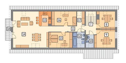 Rzut poddasza POW. 176,2 m²