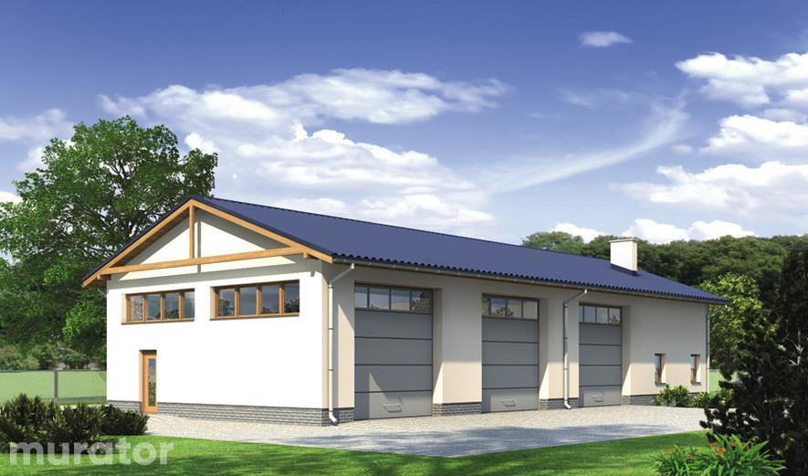 GM08 Budynek garażowo-magazynowy z częścią pomocniczą