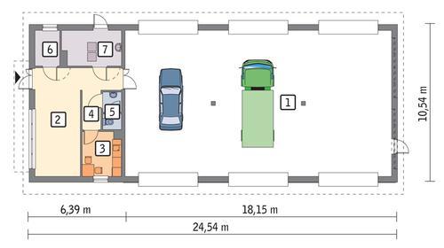 Rzut parteru POW. 224,2 m²