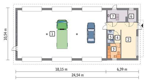 Rzut parteru lustro POW. 224,2 m²