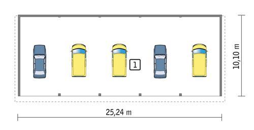 Rzut parteru POW. 243,1 m²