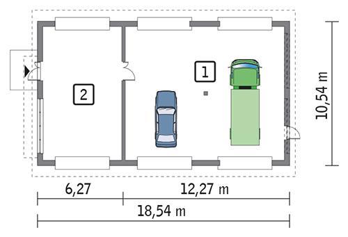 Rzut parteru POW. 169,9 m²
