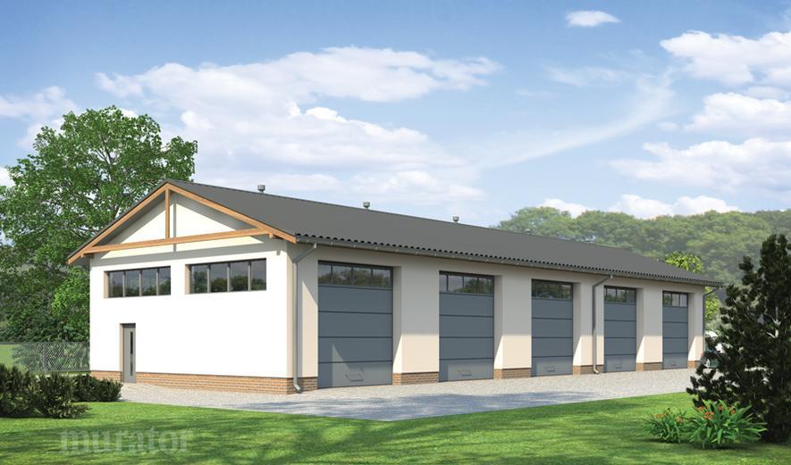 GM11b Budynek garażowo-magazynowy
