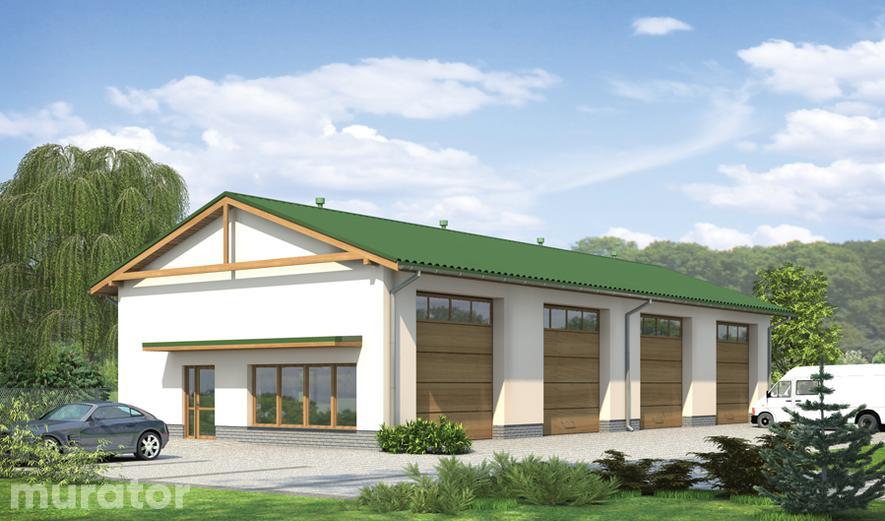 GM12 Budynek garażowo-magazynowy z częścią pomocniczą