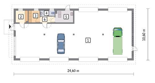 Rzut parteru POW. 224,8 m²