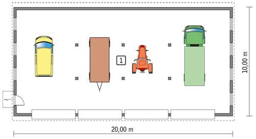 Rzut parteru POW. 184,5 m²