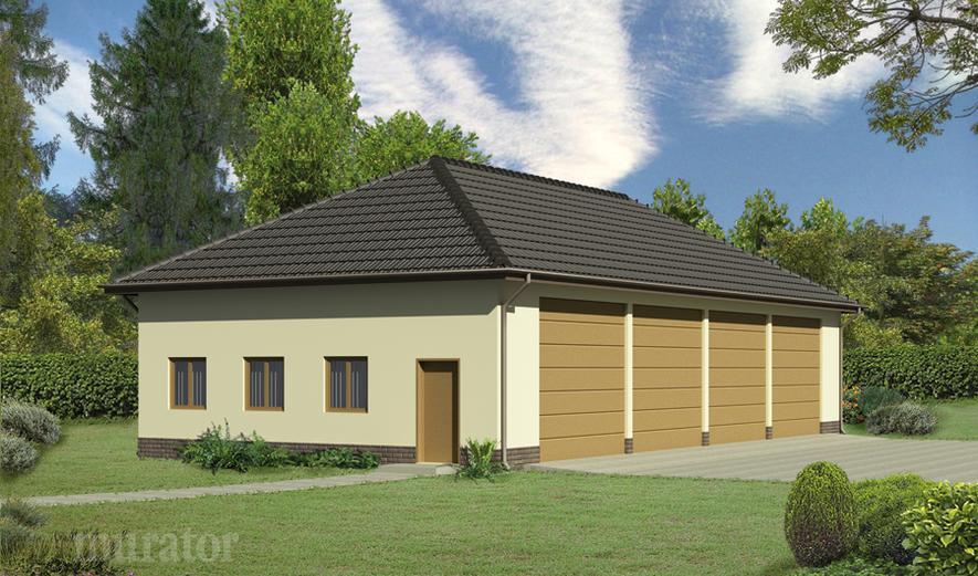 GMC01b Budynek garażowo-magazynowy