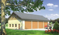 Budynek garażowo-gospodarczy z poddaszem gospodarczym