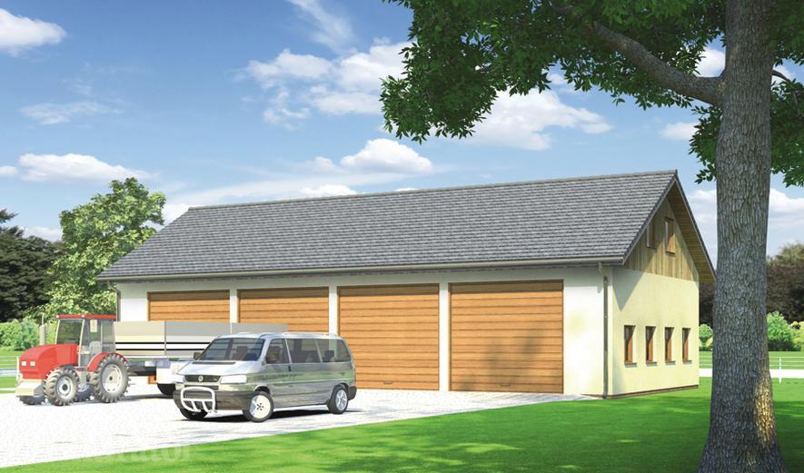 GMC01c Budynek garażowo-gospodarczy z poddaszem gospodarczym