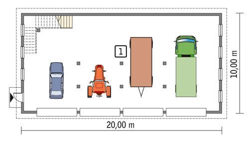 Rzut parteru POW. 176,6 m²