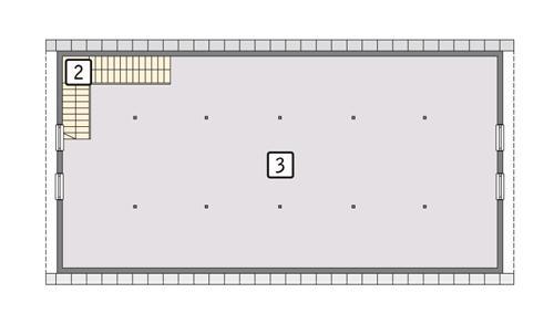 Rzut poddasza POW. 176,6 m²