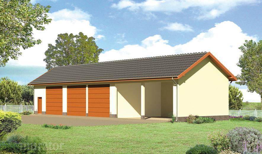 GMC02 Budynek garażowo-magazynowy z wiatą