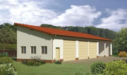 Budynek garażowo-magazynowy z wiatą garażowo-magazynową