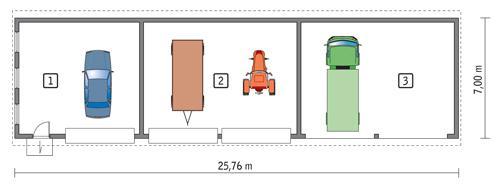 Rzut parteru POW. 160,4 m²