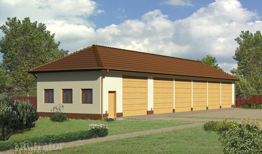 GMC03b Budynek garażowo-magazynowy