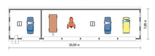 Rzut parteru POW. 189,6 m²