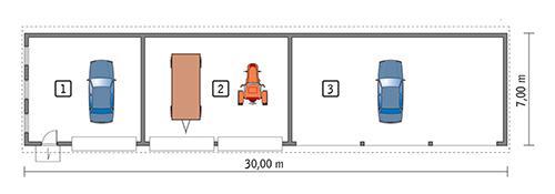 Rzut parteru POW. 187,9 m²
