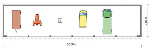 Rzut parteru POW. 191,4 m²