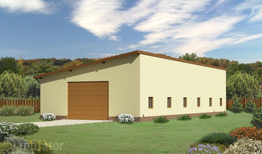 GMC04a Budynek garażowo-magazynowy