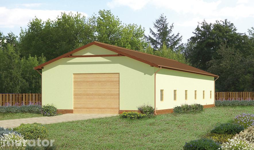 GMC04d Budynek garażowo-magazynowy