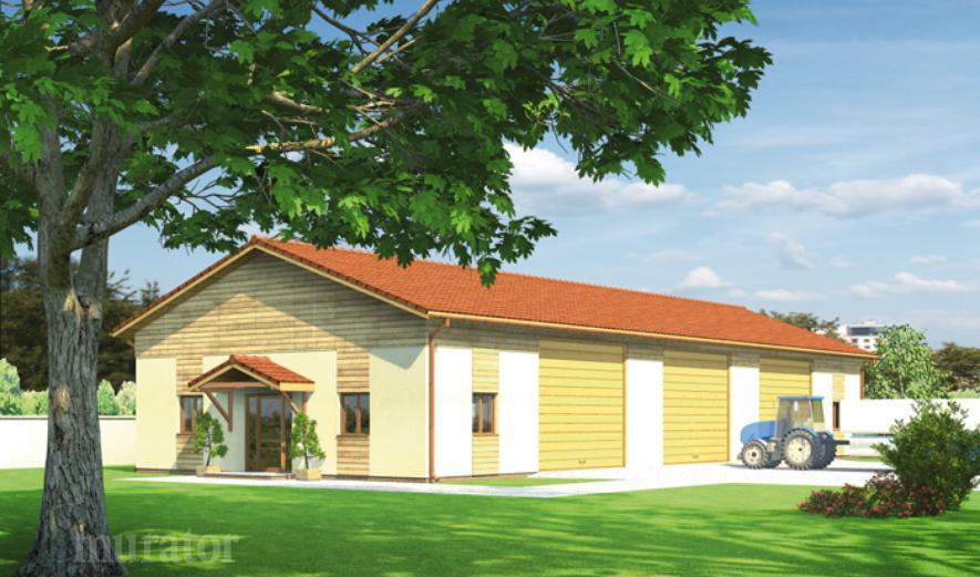 GMC04f Budynek garażowo-magazynowy z częścią pomocniczą
