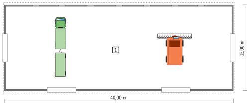 Rzut parteru POW. 572,2 m²
