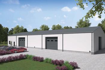 Budynek garażowo-magazynowy z częścią socjalno-biurową