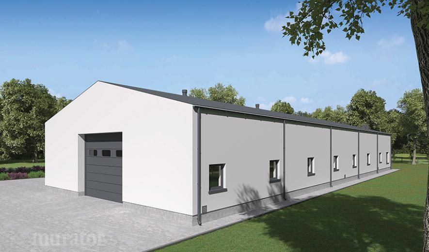 GMC05b Budynek garażowo-magazynowy z częścią socjalno-biurową
