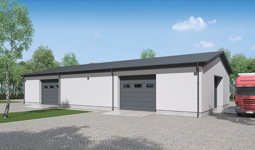 GMC05c Budynek garażowo-magazynowy