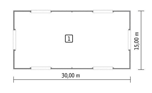 Rzut parteru POW. 426,4 m²