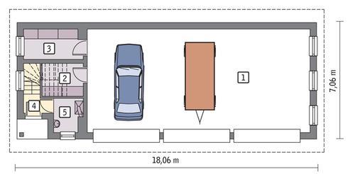 Rzut parteru POW. 99,8 m²