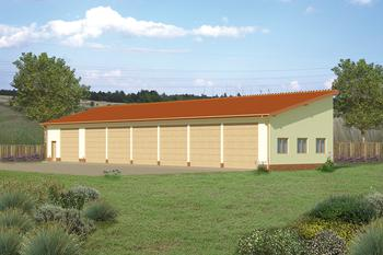 Budynek garażowo-magazynowy GMC07a