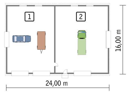 Rzut parteru POW. 357,7 m²