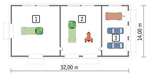 Rzut parteru POW. 417,5 m²