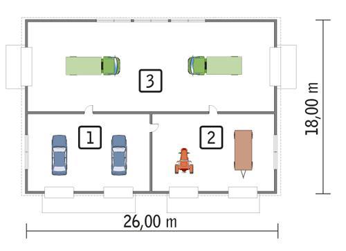Rzut parteru POW. 436,8 m²