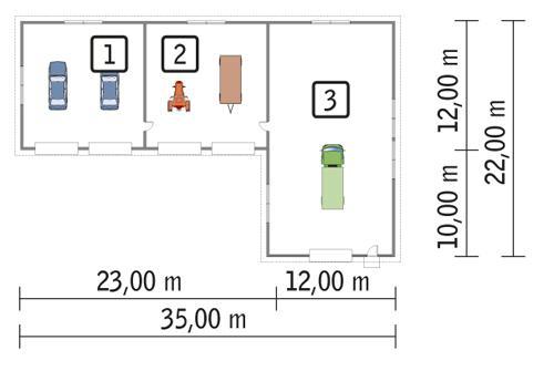 Rzut parteru POW. 505,0 m²