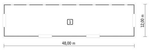 Rzut parteru POW. 545,7 m²