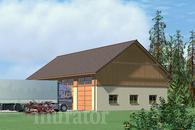 GMC14b Budynek garażowo-magazynowy z pom. pomocniczymi i poddaszem gospodarczym