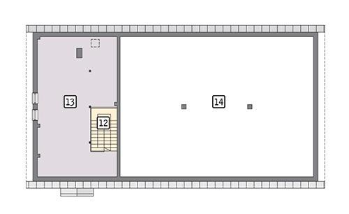 Rzut poddasza POW. 71,7 m²