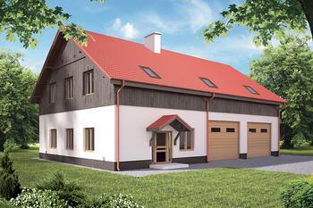 Budynek garażowo-magazynowy z pom. pomocniczymi i poddaszem gospodarczym