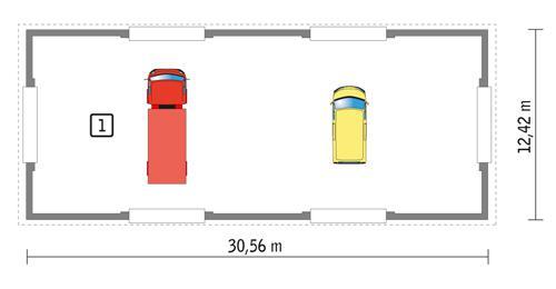 Rzut parteru POW. 349,6 m²